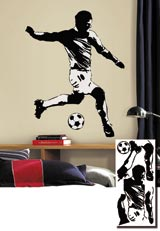 Soccer Player Giant Wall Sticker サッカープレーヤー